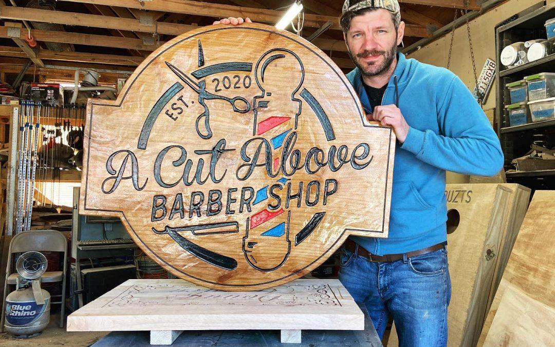 Barbershop Company Signs