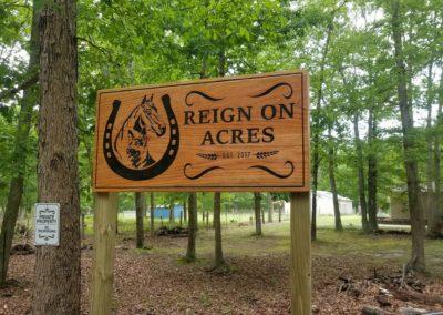 Entrance Horse Ranch Sign