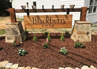 Custom Hanging Entrance Outdoor Sign