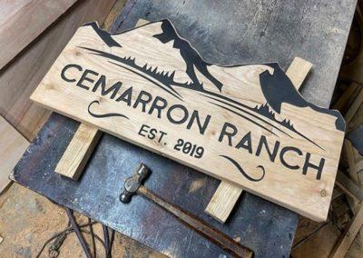 Ranch Name Entrance Sign