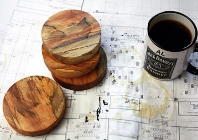 Custom Wood Drink Coaster