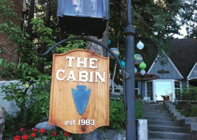 the cabin est 1983 hanging