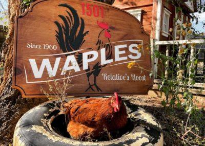 custom chicken farm signs