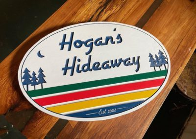 Personalized Wood Cabin Signs