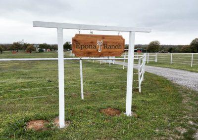 epona ranch hanging entrance sign