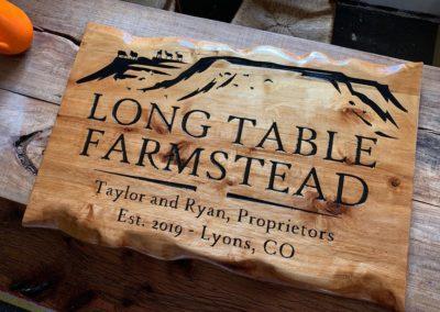 long table farmstead sign