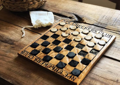 wood checker board