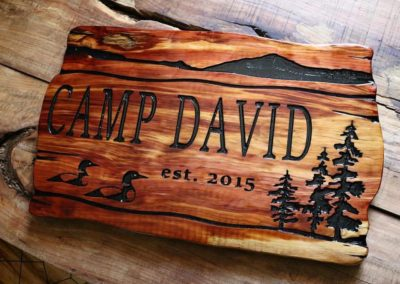 Personalized Cabin Wall Art